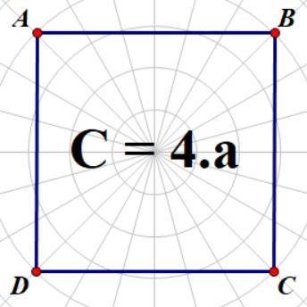 chu vi hình vuông