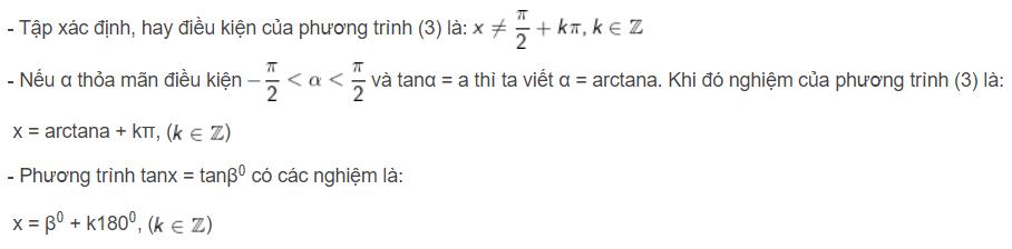 phương trình lượng giác cơ bản